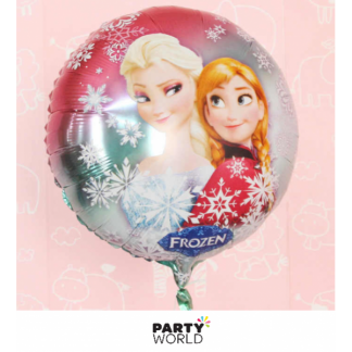 Frozen Foil Balloon 18inch Anna, Elsa - Red & Green