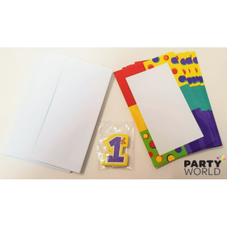 1st Birthday Imprintable Invitations (10)