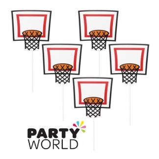 Basketball Cake Dessert Cupcake Toppers (5)