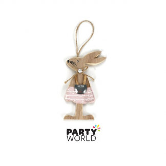 Cute Wooden Rabbit Female Decoration