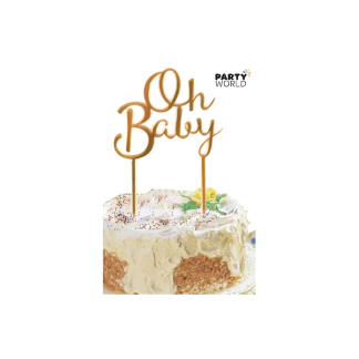 Oh Baby Gold Cake Topper