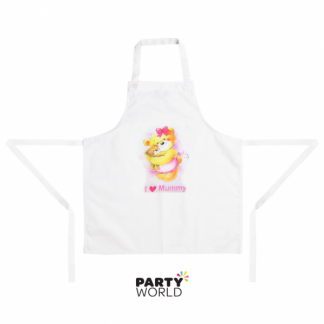 I Love Mummy Teddy Bear Apron