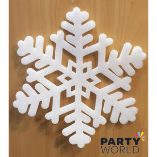 Hanging Foam Snowflake Decoration 35cm