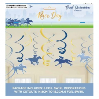 Horse Racing Race Day Swirl Decorations (12)