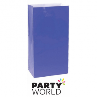 Large Paper Treat Bags - Bright Royal Blue (12)