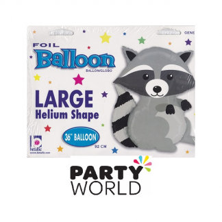 Woodland Large Raccoon Foil Balloon