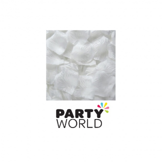 Artificial Silk Rose Petal Scatters - White (100)