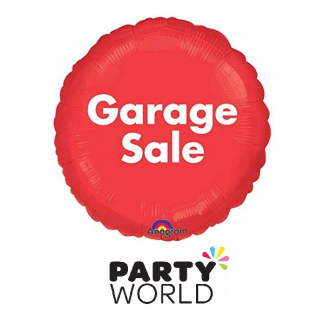 Garage Sale Red Round Foil Balloon