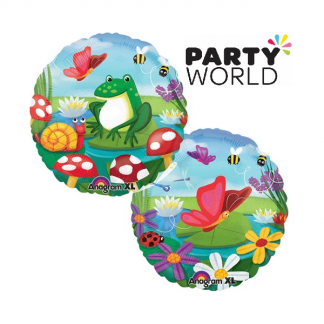 Spring Critters Round Foil Balloon