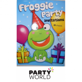 Froggie Party Invitations (20)