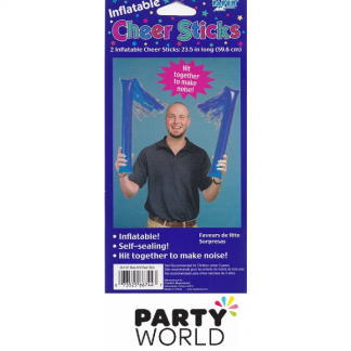 Inflatable Blue Cheer Sticks (2)