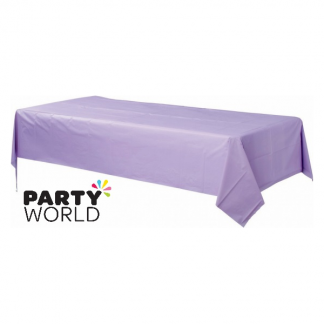 Rectangular Lavender Plastic Table Cover
