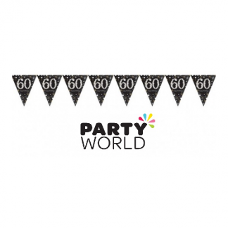 60th Birthday Sparkling Celebration Bunting