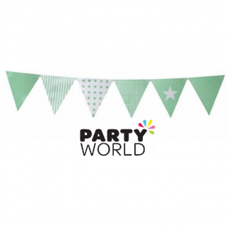 Green Stripes & Stars Party Flag Banner (50 flags)