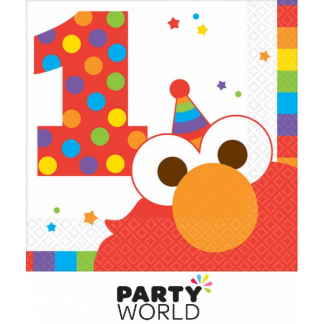 Elmo Turns One Birthday Beverage Napkins (16)