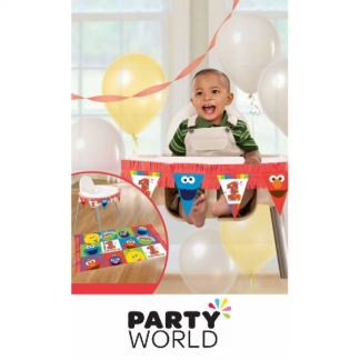 Elmo Turns One Birthday High Chair Kit