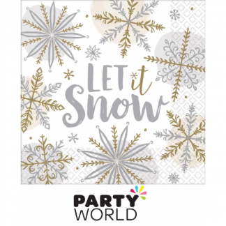Let It Snow Luncheon Paper Napkins (16)