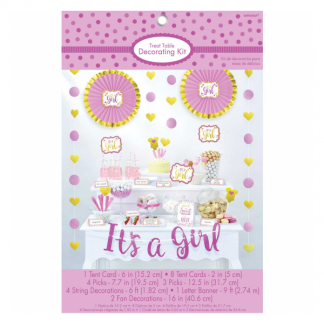 Its A Girl Baby Shower Table Decorating Kit