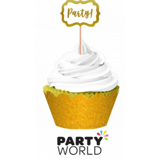 Gold Glitter Party! Cupcake Kit