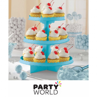 Cupcake / Treat Stand - 3 Tier - Caribbean Blue