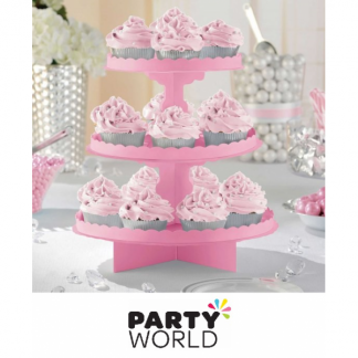 Cupcake / Treat Stand - 3 Tier - New Pink