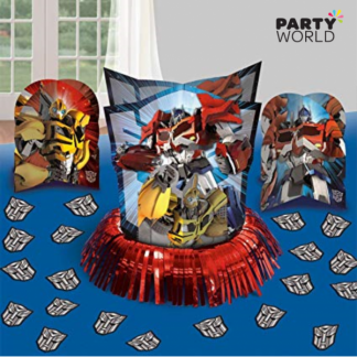 Transformers Table Decorating Kit - 3 Centerpieces & Confetti