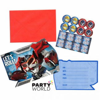 Transformers Invitations Set (8)