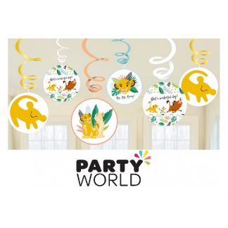 Lion King Party Swirl Decorations