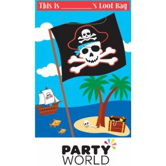 Pirate Party Folded Loot Bags (8)