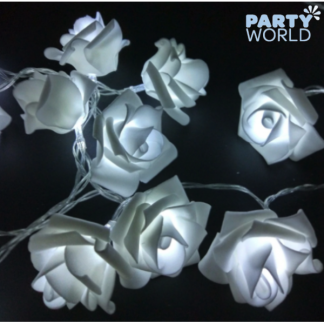 White Roses LED Light Garland (1.5m)