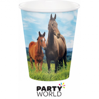 Horse And Pony 9oz Paper Cups (8)
