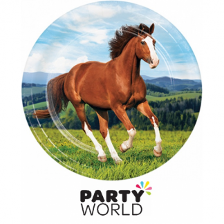 Horse And Pony Party Paper Plates (8) 22cm