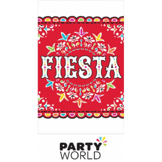 Fiesta Party Printed Plastic Tablecover