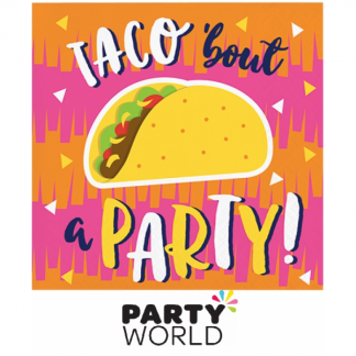 Fiesta Fun Taco Beverage Napkins (16)