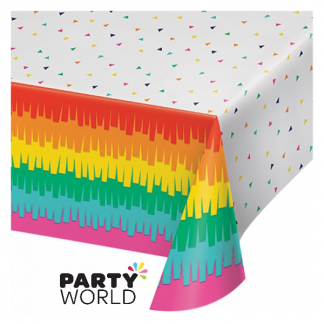 Fiesta Fun Plastic Tablecover