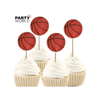 Basketball Cupcake Toppers (24)