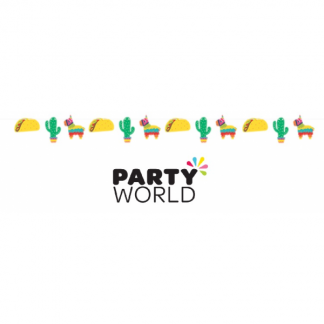 Fiesta Fun Shaped Banner With Ribbon