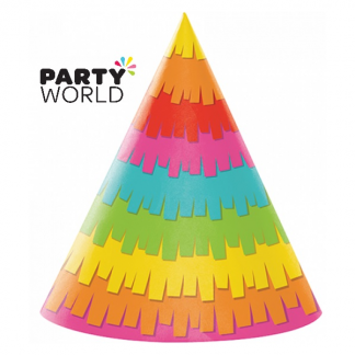 Fiesta Fun Party Paper Cone Hats (8)