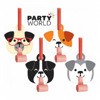 Dog Party Fun Blowouts With Medallions (8)