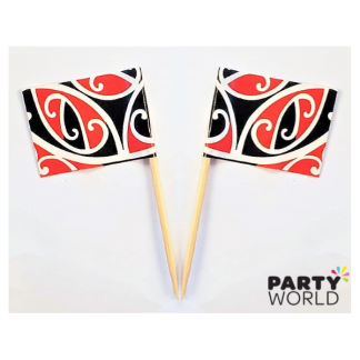 Maori Design Flag Picks (50)