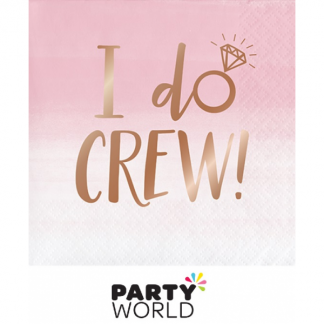 Rose Gold Foil I Do Crew Beverage Napkins (16)