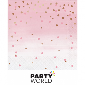 Rose Gold Foil Dots Luncheon Napkins (16)