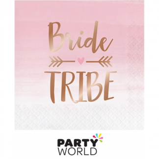 Rose Gold Foil Bride Tribe Luncheon Napkins (16)