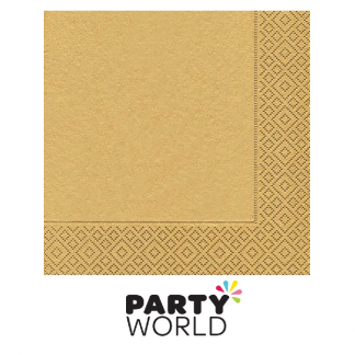 Gold - Uni Gold Luncheon Napkins (20)