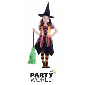 Witch Deluxe Girls Costume - 6-8 years