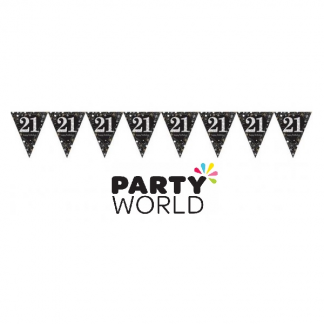 Happy 21st Birthday Sparkling Celebration Pennant Banner