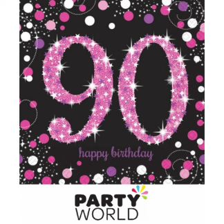 Pink Celebration 90th Birthday Luncheon Napkins (16)