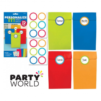 Personalise It! Cabana Dot Party Bags (12)