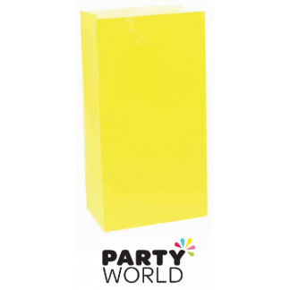 Large Paper Treat Bags - Sunshine Yellow (12)
