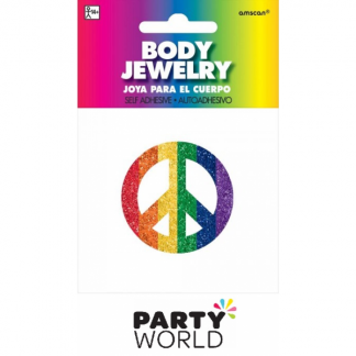Rainbow Peace Sign Body Jewellery